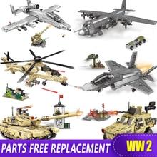 XINGBAO 06021-26 Military Arms World War 2 Rocket Gun Tank Fighter Building Blocks Bricks Compatible with Legoed Blocks WW2 Toys