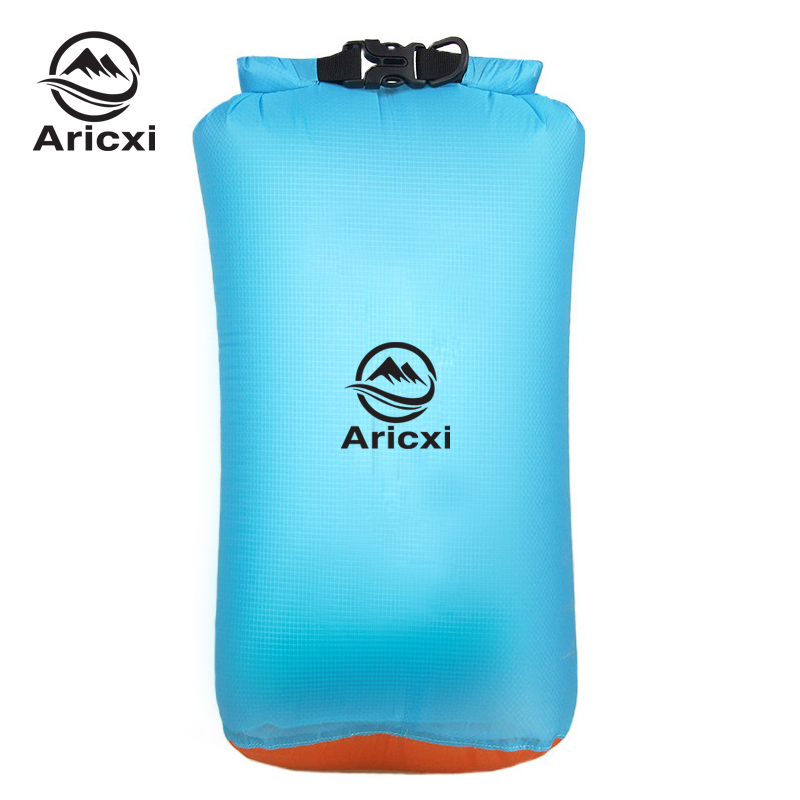 Outdoor 20D Silicone Coated Nylon Ultra Light Waterproof Portable Rafting Diving Dry Bag Sack  Swimming Bags For River Trekking