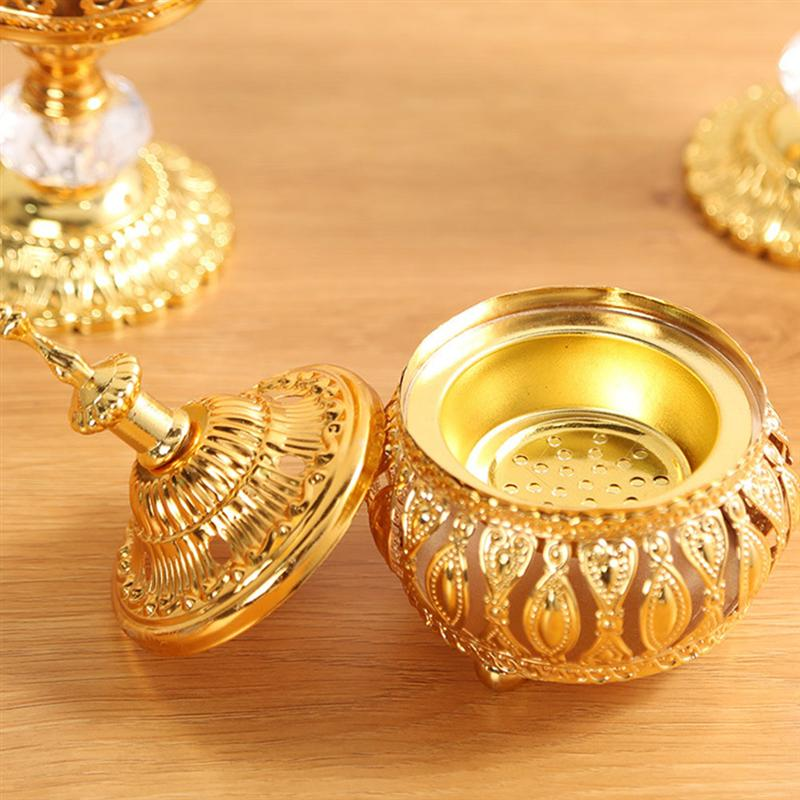 1pc Delicate Middle East European Style Incense Burner For Home Decoration Home Decorative Ornament