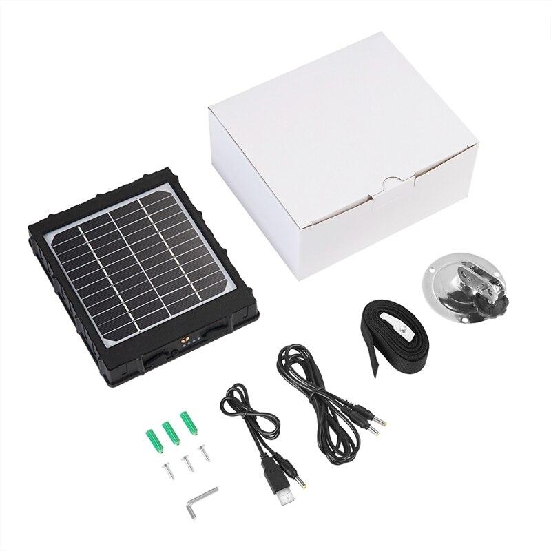Panneau solaire 3000Mah 3W pour 4G chasse caméra Photo pièges sauvage caméra externe chargeur d'énergie solaire avec batterie en aluminium