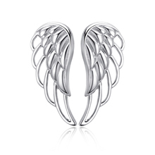 925 Sterling Silver Luxury Feather Fairy Wings Earrings Ladies Fine Jewelry Factory Direct Free Shipping