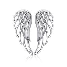 925 srebro luksusowe piórko skrzydełka wróżki kolczyki damskie biżuterii Factory Direct darmowa wysyłka