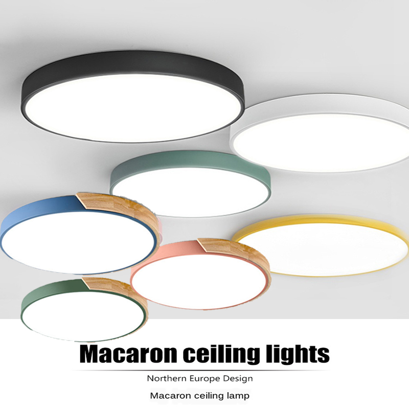 LED modern White  amp  Black color ceiling lights acrylic ceiling lamps for kitchen living room bedroom study corridor hotel room
