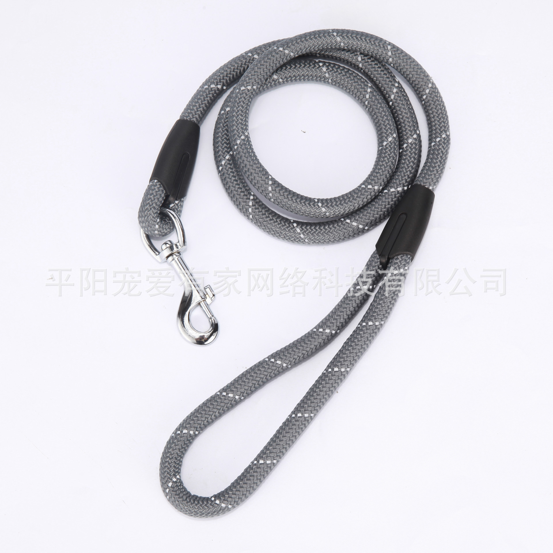 Reflective Yarn Single Round Rope Medium Large Dog Hand Holding Rope Pet Supplies Outdoor Training
