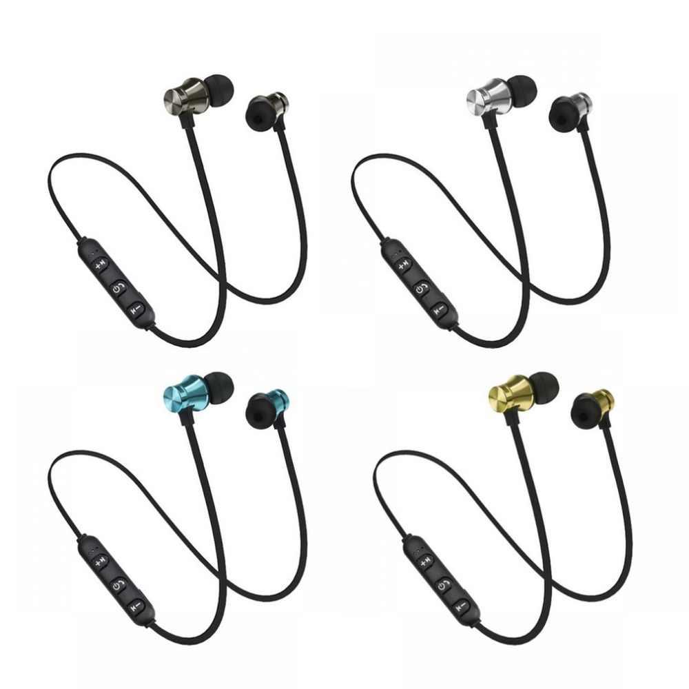 Auriculares Bluetooth de atracción magnética auriculares deportivos impermeables 4,2 Con Cable de carga auriculares Bluetooth de micrófono incorporado joven