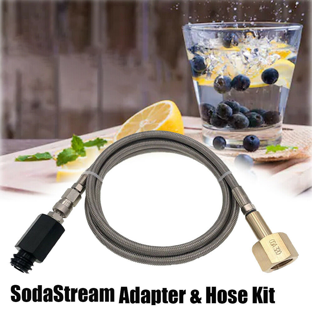 Grohe Blue Home SodaStream/Soda Club To External Co2 Tank Adapter And Hose Kit W21.8-14 Or CGA320 Quick Disconnect Connector