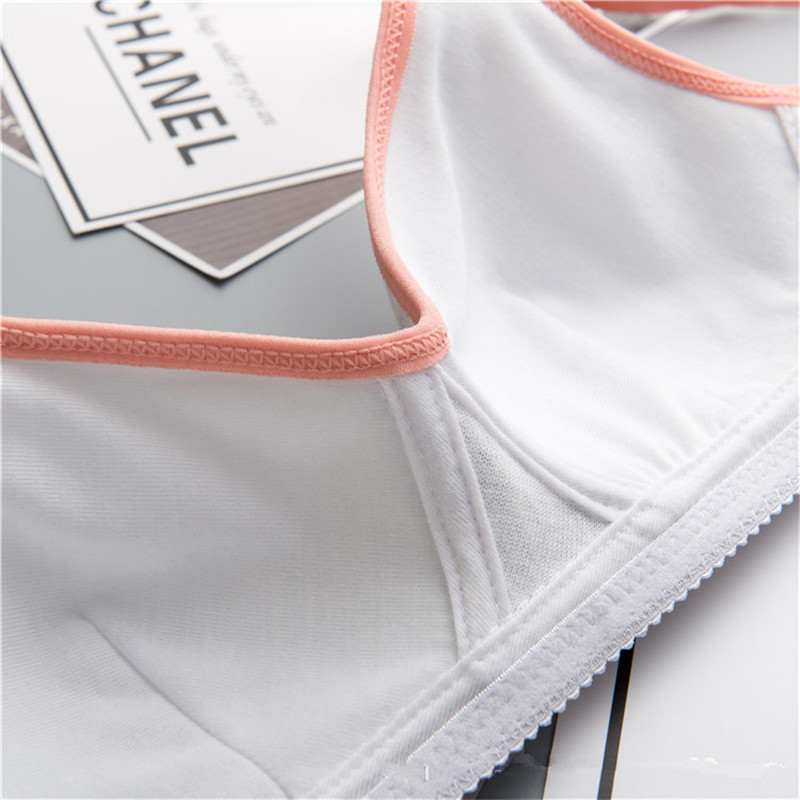 Kids Girls Training Bras Wireless Cotton Underwear For Teenage Girls Young Student Training Bras Solid Age For 12-18Years 6