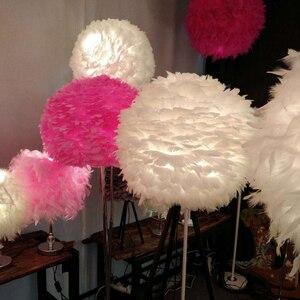 Image 2 - Lampe suspendue à plumes en forme de rêve, design romantique, luminaire décoratif, idéal pour un salon ou une chambre à coucher