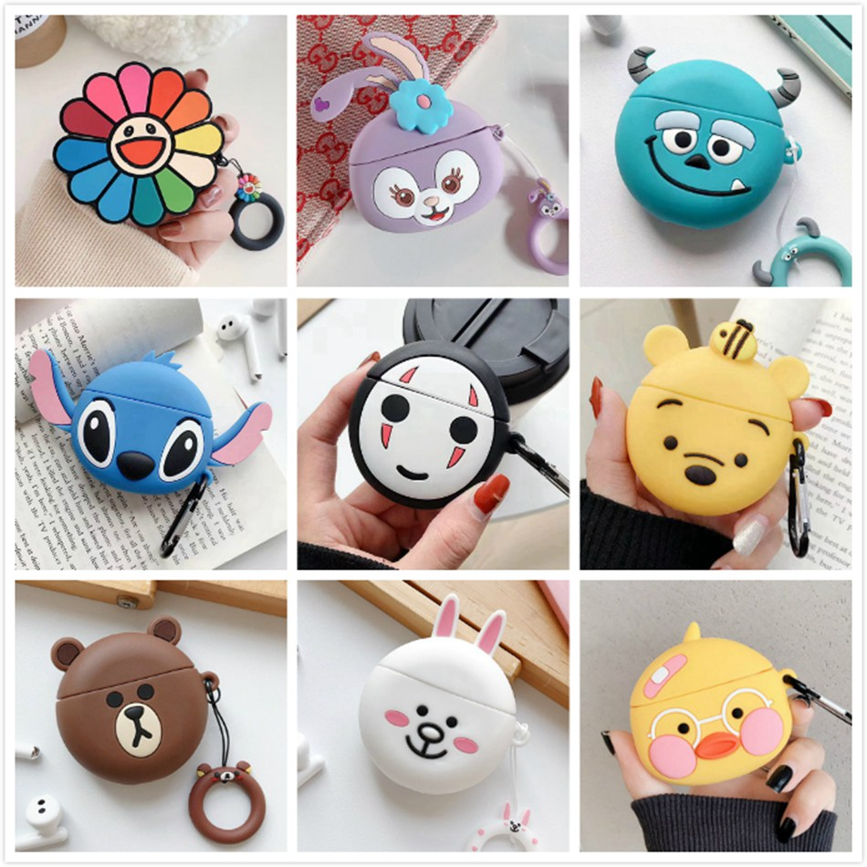 Earphone Case For Huawei Freebuds 3 Case Silicone Cute Bear Dog Cartoon Headphone/Earpods Cover For Huawei Freebuds 3 Pro Cases