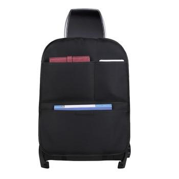 Car Back Seat Organizer Storage Box Pockets Kick Mats  For Kid Foldable Auto Bag