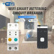Ewelink однофазный din рейка wifi умный измеритель энергии защита