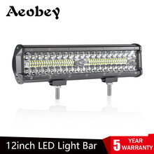 Aeobey 12inch 240w 80LED Waterproof IP68 Work Light LED Light Bars Spot Flood Beam for Work Driving Offroad Boat Tractor Truck