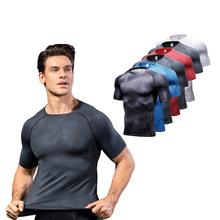 Koszulki sportowe dla mężczyzn topy sportowe odzież sportowa kompresyjna koszulka z nadrukiem bieganie odzież sportowa koszulki Rashguard tanie tanio Linxport summer Wiosna AUTUMN Winter Poliester Pasuje prawda na wymiar weź swój normalny rozmiar 100 Brand New and High Quality