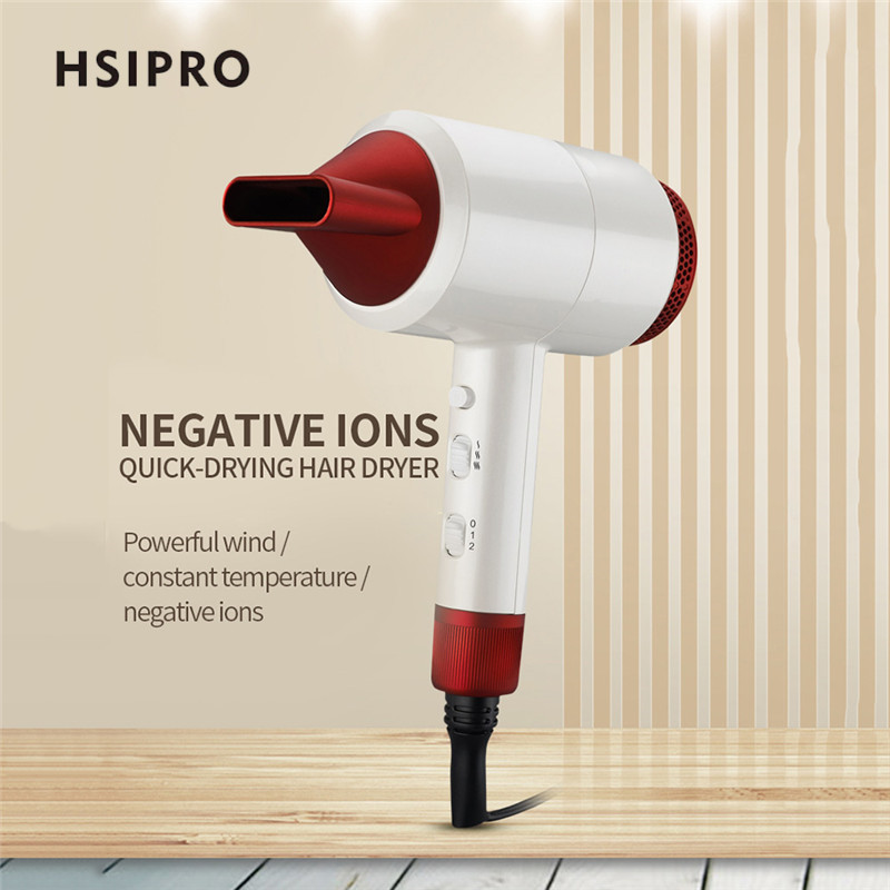 HSIPRO 1800W Electric Hair Dryer Hammer Shape Hairdryer Negative Ion Air Hot /Cold Strong Wind Within Air Collecting Nozzle