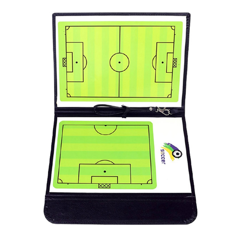 Football Tactics Board Foldable Football Coach Clipboard Magnetic Folding Football Tactics Board For Competition