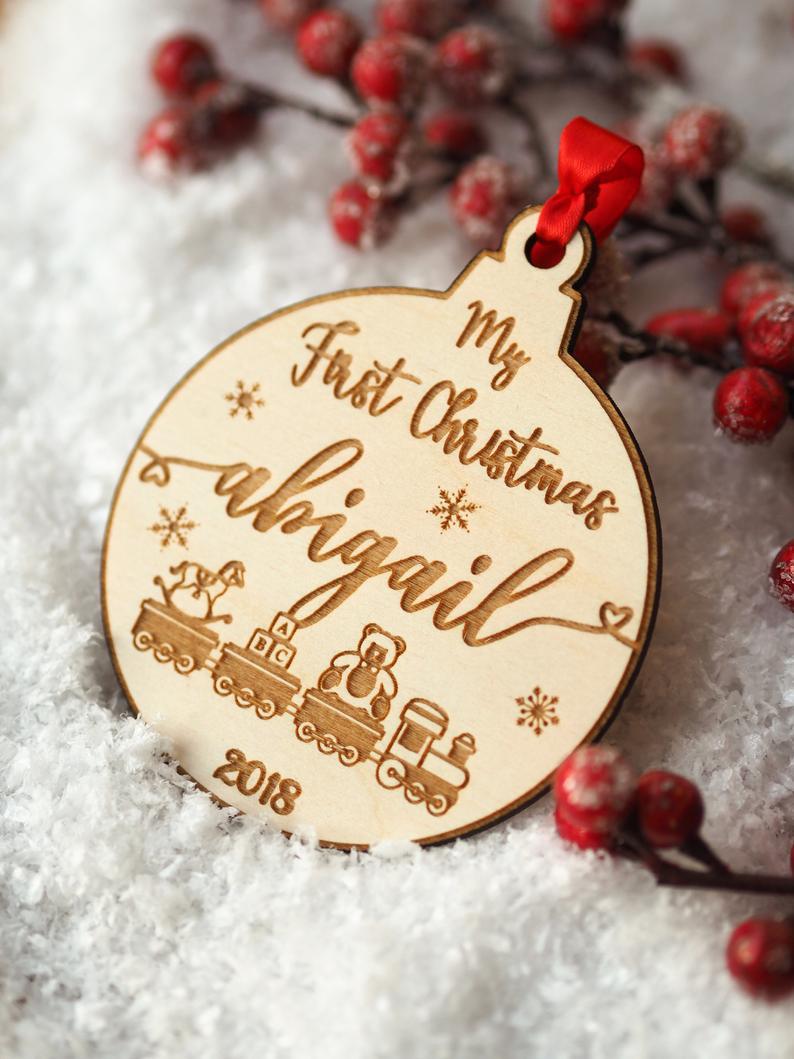 Personalised Photo Coaster Card 1st Christmas Mr /& Mrs New Couple Gift