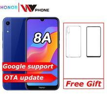 Новое поступление,, Honor 8A, 6,09 дюйма, MTK6765, Android 9,0, 8.0MP+ 13.0MP камера, 3020 мАч, разблокировка лица