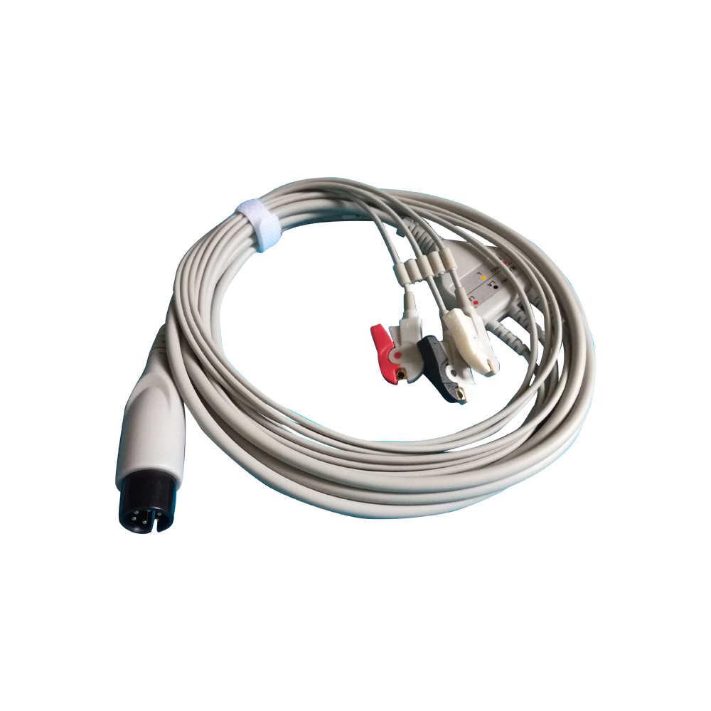 SZOSEN ecg cable 5 cables 3 cables de clip de presión de plomo para monitor de paciente para 9000C OSEN9000D OSEN8000E ,OSEN8000,X7