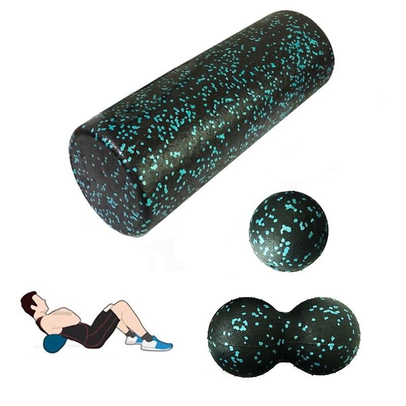 Yoga Block Roller Massage Ball Set Eva Fitness Foam Roller Pilates Body Massage Exercises Gym with Trigger Points Massage Roller