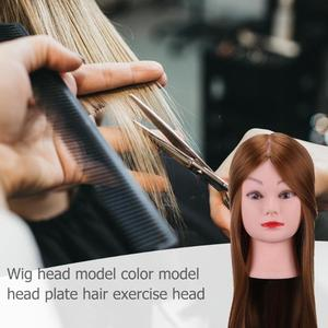 Image 3 - 理髪トレーニングヘッド本物の人間の髪の人形美容マネキンヘッド美容マネキン