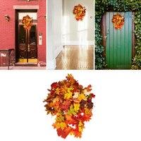 Artificial Maple Leaves Eco Friendly Lawn Landscape Balcony Weddings Diy Decoration Autumn Fall Maple Leaves