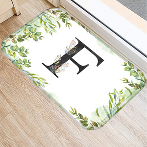 Image 5 - Alfombra de franela Rectangular con alfabeto de 40*60 colores, alfombra de suelo lavable, alfombra decorativa para dormitorio de casa, alfombra antideslizante para Baño