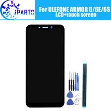 شاشة LCD ULEFONE ARMOR 6 + شاشة لمس 100% تم اختبارها LCD محول رقمي لوحة زجاجية بديلة لـ ULEFONE ARMOR 6E/6S