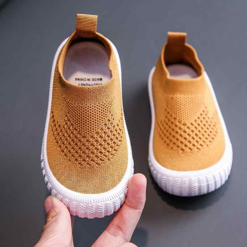 2019 herfst kinderen holle enkele netto schoenen baby mesh schoenen ademend mesh sportschoenen zachte bodem casual schoenen tij