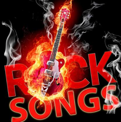 120x120cm 4x4ft custom rock songs flag banner with 4 grommets on each corner image