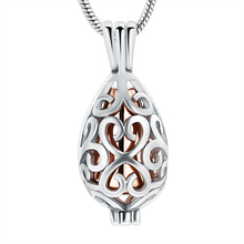 JJ001 Cremation Jewelry for Neckalce Hollow Teardrop Stainless Steel Memorial Locket Necklace With Gold  Of Loved Ones Keepsake kathy ireland loved ones tonal