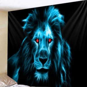 Image 5 - Zebra Lion Tapestry Wall Hanging Tribal Animal Sheets Wolf Tiger Horse Tapestry Home Decor Beach Mat