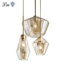 Lámpara colgante de cristal LED para comedor, cocina, diseño Vintage Retro, decorativa, iluminación con colgantes, Industrial, nórdica