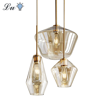 LED Glass Pendant Light For Dining Room Kitchen Design Vintage Retro Decorative Pendants Lighting Industrial Nordic Hanging Lamp american country vintage retro pendant lights industrial warehouse lighting light for kitchen dining room suspendus lustre lamps
