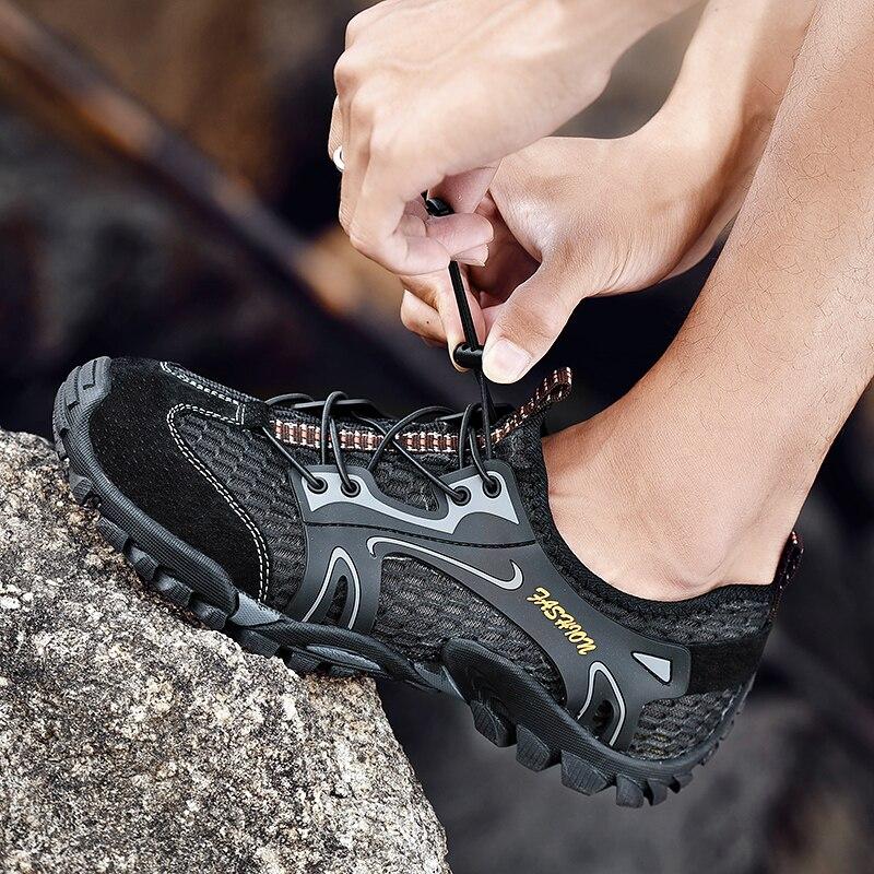 Sapatos de caminhada dos homens ao ar livre trilha trekking tênis homens antiderrapante tamanho grande sapatos esportivos 2021 moda respirável tênis de montanha
