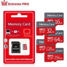 Carte mémoire TF SD micro avec adapteur SD gratuit, de 8 Go, 16 Go, 32 Go, 64 Go et 128 Go, C10