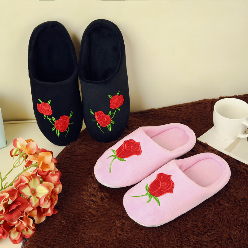 Women-Indoor-Slippers-Rose-Embroider-Short-Plush-Spring-Autumn-Flat-Shoes-Woman-Home-Slides-Soft-Sole (4)
