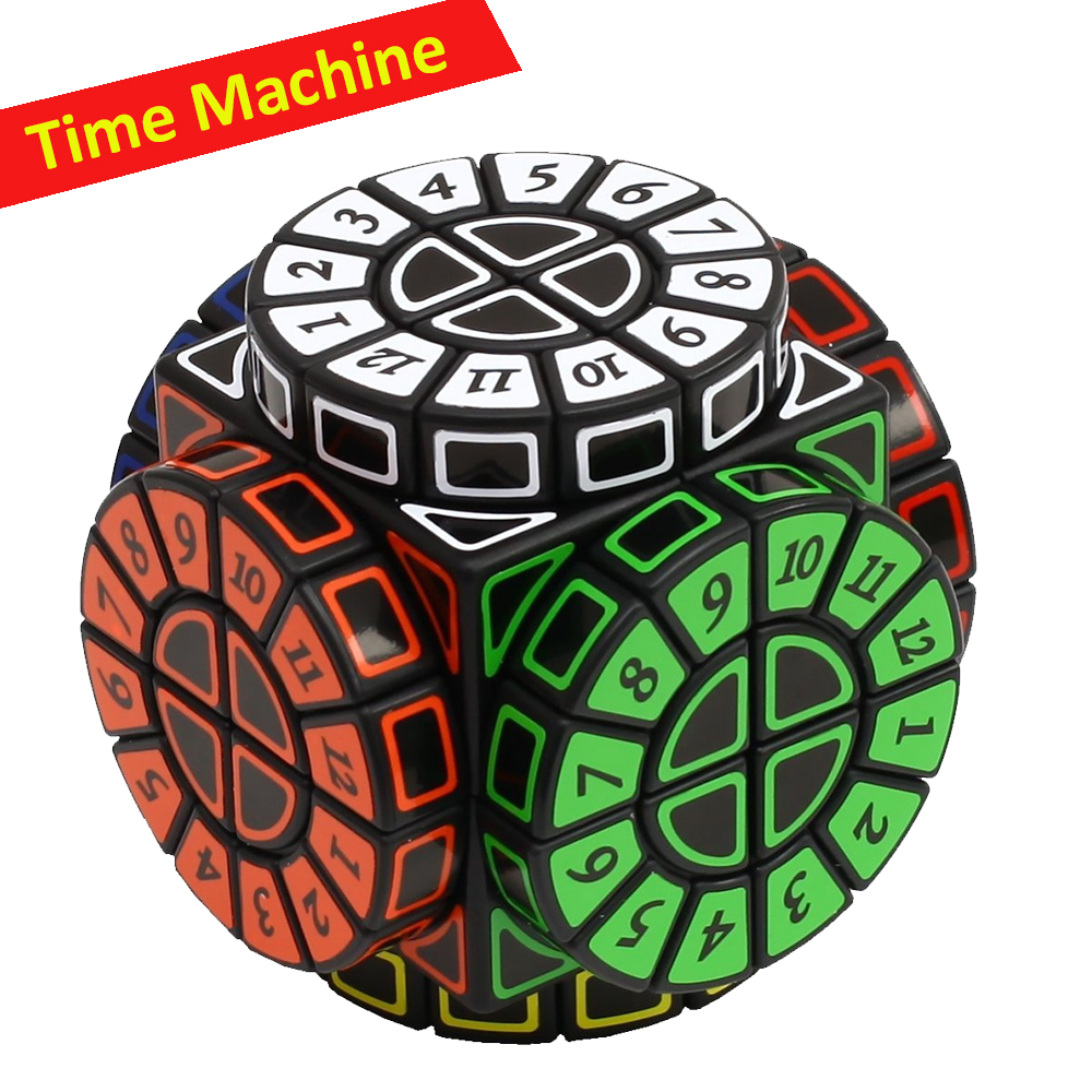 Official Time Machine Magic Cube Black 2x2 Time Machine Digital Cubo Magico Creative Puzzle Toys With Numbers