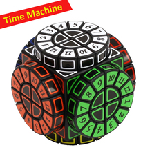 Toys Magic-Cube 2x2-Time-Machine Black Stickers Puzzle with Numbers Digital Creative