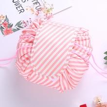 Brand Women Drawstring Bags Travel Cosmetic Bag Mak