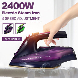 2400W Electric Steam Iron Cordless Charging Steam Iron 5 Speed Adjust Clothes Ironing Steamer ABS+Ceramic Soleplate EU Plug