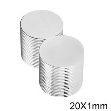 10/20/50/100/200pcs 20x1 Rare Earth Magnets 20x1mm Round Magnet 20mmx1mm Fridge Permanent Neodymium Magnet disc 20*1 mm