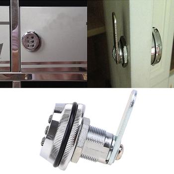 Zamek meblowy do szafki 3 cyfrowy kombinacja blokada ze stopu cynku bezpieczeństwo w domu dla do skrzynki pocztowej lub szuflady meble sprzęt meblowy szafki tanie i dobre opinie Brak 35mm Cabinet Locks
