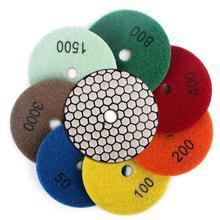 Diamentowy pady polerskie ściernica do betonu granit marmur 7 sztuk zestaw elastyczne diamentowe podkładki tanie tanio Z-LION CN (pochodzenie) diamond+resin Komercyjne Producenci 1Q014c 4 inch