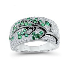 Новинка, кольца из розового золота для женщин, полностью Кристальное обручальное кольцо из Стразы для дам, Женские аксессуары, кольца на палец, ювелирное изделие, подарок - Цвет основного камня: 20