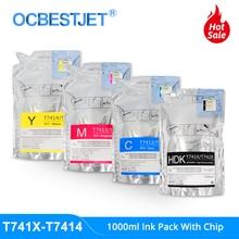 Paquetes de tinta T7411 T7414 T741X, 1000ML, sublimación, para Epson SureColor F6000 F6070 F6200 F6270 F7000 F7200 F7270 F9200
