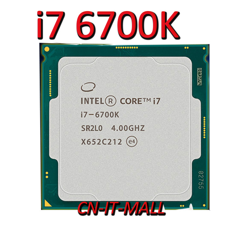 Intel Core <font><b>i7</b></font> <font><b>6700K</b></font> <font><b>CPU</b></font> 4.0GHz 8MB Cache 4 Cores 8 Threads LGA1151 Processor image