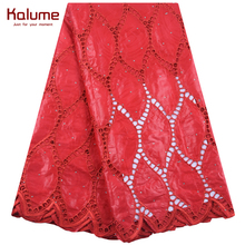 Kalume African Lace Fabric Embroidery Bazin Riche Lace Fabric With Stones Nigerian Tulle Lace Bazin Riche Fabric For Wedding1892 liulanzhi white bazin african riche fabric cotton african embroidery jaquards riche fabric for dress ml56b08