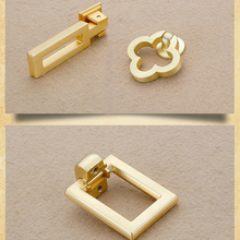 Simanfei 4Pcs Door Handle Copper Color Zinc Alloy Chinese Style Imitation Brushed Drawer Furniture Hardware