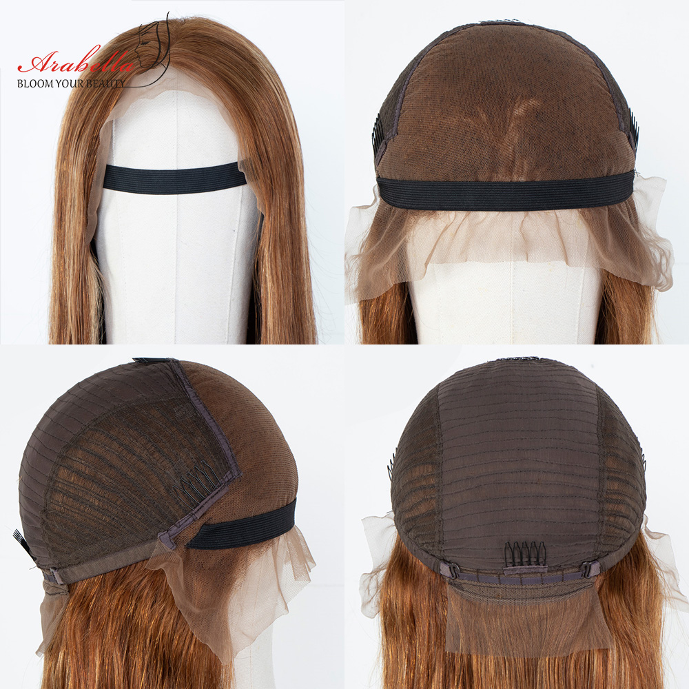 Blonde Streaks 13x4  Wigs With Baby Hair Lace Front Wig Body Wave  Highlight Straight Lace Frontal Wig 6