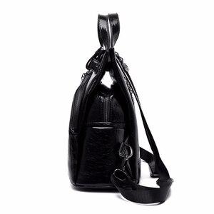 Image 2 - 2019 kobiet skórzane plecaki wysokiej jakości Sac A Dos Anti theft plecak dla dziewczynek Preppy torby szkolne dla dziewczynek Casual Daypack